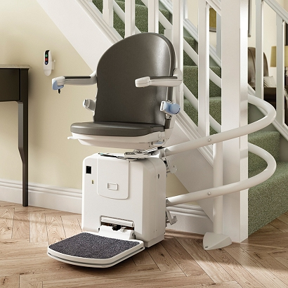 2000 Curved Twin Rail Stairlift